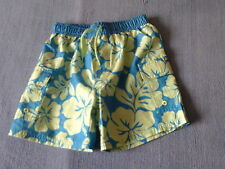 Boys 3-4 Years - Blue & Green Floral Swim Shorts