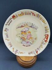 "Poole Pottery Nursery Rhyme 7"" Child's Plate Jack and Jill England"