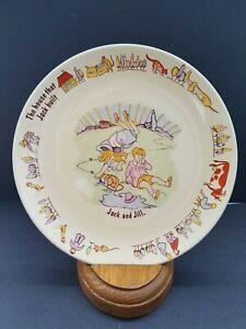 "Poole Pottery Nursery Rhyme 7"" Child's Plate Jack and Jill England"