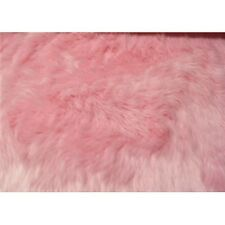 PINK SHAGGY LONG PILE FAUX FUR FABRIC $22.99/YD
