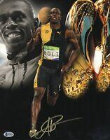 JAMAICA USAIN BOLT SIGNED 2009 SUMMER OLYMPICS 'JAMAICA' 11X14 PHOTO BAS COA 11