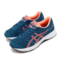 Asics Gel-Contend 5 D Wide Blue Sun Coral White Women Running Shoes 1012A231-402