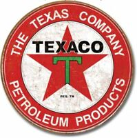 "Distressed Texaco Tin Wall Sign Ad Retro Garage Gas Petrol Station USA Gift 16/""L"