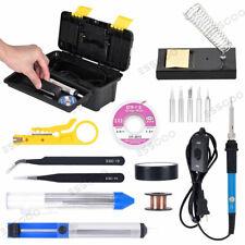 16 in 1 110V Electric Soldering Iron Welding Tool Kit w/ Solder Wire Tweezer Set