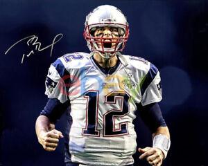 Tom Brady Autographed New England Patriots Signed 8x10 Photo reprint