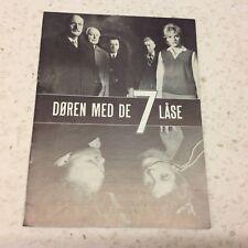 Die Tür mit den 7 Schlössern Heinz Drache Sesselmann 1962 Danish Movie Program