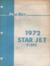 1972 SNO-JET SNOWMOBILE STAR JET Y-292  MODELS PARTS MANUAL (694)