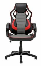 X-Rocker Leather Effect Gaming Chair - Black and Red-GBR102