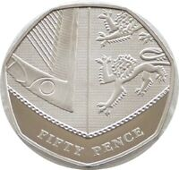 2010 British Royal Shield of Arms 50p Fifty Pence Proof Coin