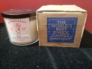 Bath & Body Works Aromatherapy LOVE Rose Vanilla Candle Large 3-Wick 14.5 oz