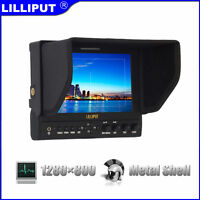 """Lilliput 7"""" 663/O/P2 1280x800 IPS Peaking Focus HDMI In&Out +LP-E6 Plate+suitcas"""