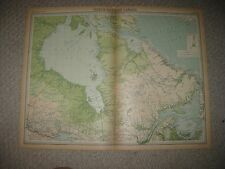 HUGE FOLIO ANTIQUE 1922 NORTH EASTERN CANADA QUEBEC HUDSON BAY TIMES ATLAS MAP