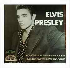 "ELVIS PRESLEY SUN215 45rpm RE  ""YOU'RE A HEARTBREAKER / MILKCOW BLUES BOOGIE"""