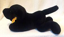 FAO Schwarz Steiff Germany American Kennel Club Plush Black Puppy Dog