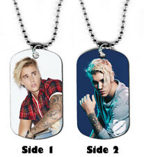 DOG TAG NECKLACE - Justin Bieber #2 Pop Singer Songwriter Teen Icon Boyfriend