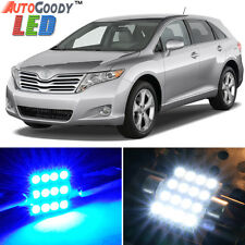 12 x Premium Blue LED Lights Interior Package Kit for Toyota Venza 09-15 + Tool