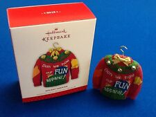 Holiday Sweater - 2013 Hallmark Keepsake Christmas ornament in original box, New
