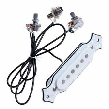 1 Set White Pearl Sound Hole Pickup Sounhole Pickup Wiring Harness Pre-wired Pot