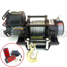 Cabrestante Guerrero Ninja 4500lb 12v Con Cable De Acero & Control Inalámbrico