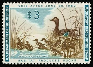Scott#RW28 $3 Back of Book Federal Duck Mint NH OG Never Hinged Well Centered