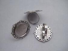 4 x anneau argent antique réglable base Blanks 20mm Cameo Cabochon Settings