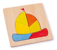 """Puzzle in legno """"Barca a vela"""" (""""Nave""""),  cm 14x14"""