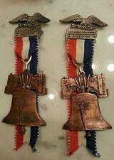 Vintage 1976 Stuttgart medal 2 int freundschafts wanderung Liberty Bell German