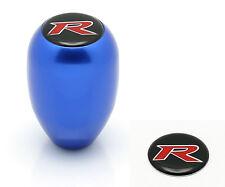 TYPE R STYLE BLUE MT MANUAL TRANSMISSION GEAR SHIFT KNOB + R EMBLEM ACURA