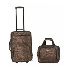 ROCKLAND 2 PC LEOPARD LUGGAGE SET F102-LEOPARD LUGGAGE SET NEW