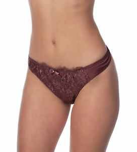 Alegro Lingerie Womens Floral Jewel Lace Overlay Thong Panty Underwear 9001C