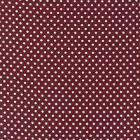 Tissu patchwork MODA DOTTIE petits pois blanc sur fond bordeaux 45x55cm