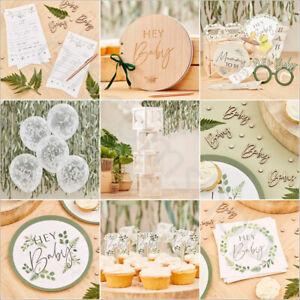 Botanical Baby Shower Decorations Tableware Mum to be Sash Unisex Gender Neutral