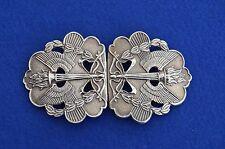 Vintage Solid Silver Nurses Belt Buckle - Birmingham 1969 - Hospital - Antique -