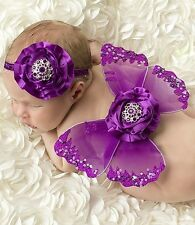 Baby Butterfly Wings & Headband Set - Purple - Photo Props