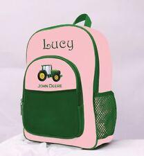 Personalized John Deere Backpack Green & Pink Use for Diaper Bag Custom Name