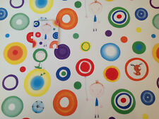 2 Sheets Gift Wrap Paper & Tag Cute Kids Funky Dots Male Child Boys Birthday