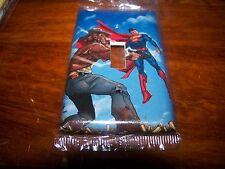 SUPERMAN & JONAH HEX LIGHT SWITCH PLATE