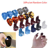 Guitar 10pcs Plectrum Nail Picking Thumb Finger Picks Stainless Steel celluloiBB