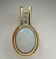 pendentif or opale et diamants