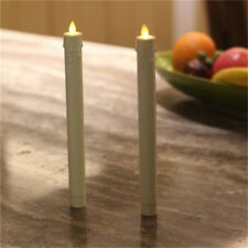 4Pcs Flicker Flameless Moving Flame Taper LED Candle Sticks Battery Powered Xmas