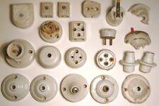 Interrupteurs Douilles B22 Prises Fusibles Appliques  Porcelaine X 20 Anciens