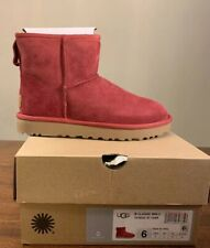 UGG CLASSIC MINI II WOMAN'S BOOTS 1016222  SZ 6 AUTHENTIC EXCLUSIVE GARNET COLOR