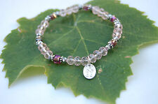 Pink Stretch Bracelet with .925 Sterling Silver Charm FREE SHIPPING RipsyRipsy