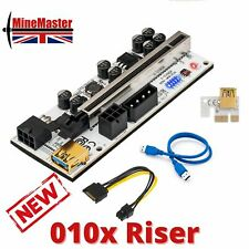 More details for pci-e 1x to 16x gpu riser for mining crypto - latest version 010x - uk stock!