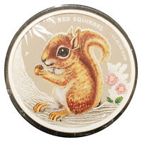 2013 Tuvalu FOREST BABIES 50C CENTS 1/2 OZ PURE SILVER PROOF COIN - RED SQUIRREL