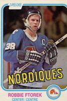 1981-82 O PEE CHEE / OPC HOCKEY #274  Robbie Ftorek  Quebec Nordiques