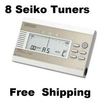 """Lot of 8 Seiko Sat50 Chromatic tuner w/h 1/4"""" jacks, reference pitch & transpose"""