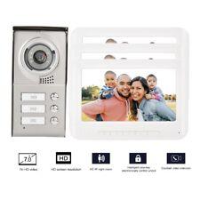 """KIT VIDEOCITOFONO TRIFAMILIARE FOTOGRAFA TELECAMERA 3 LCD MONITOR 7"""" CAMPANELLO"""