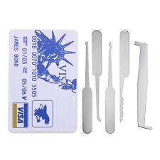 5* Pcs Statue of Liberty Card Multitools for Beginner Lock Pick Train Practice