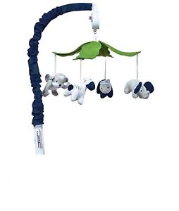 Trend Lab perfectly navy musical mobile with jungle animals